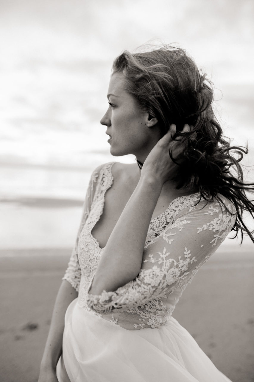 no make up bride-natural portrait-sankt peter ording wedding-beach motel spo