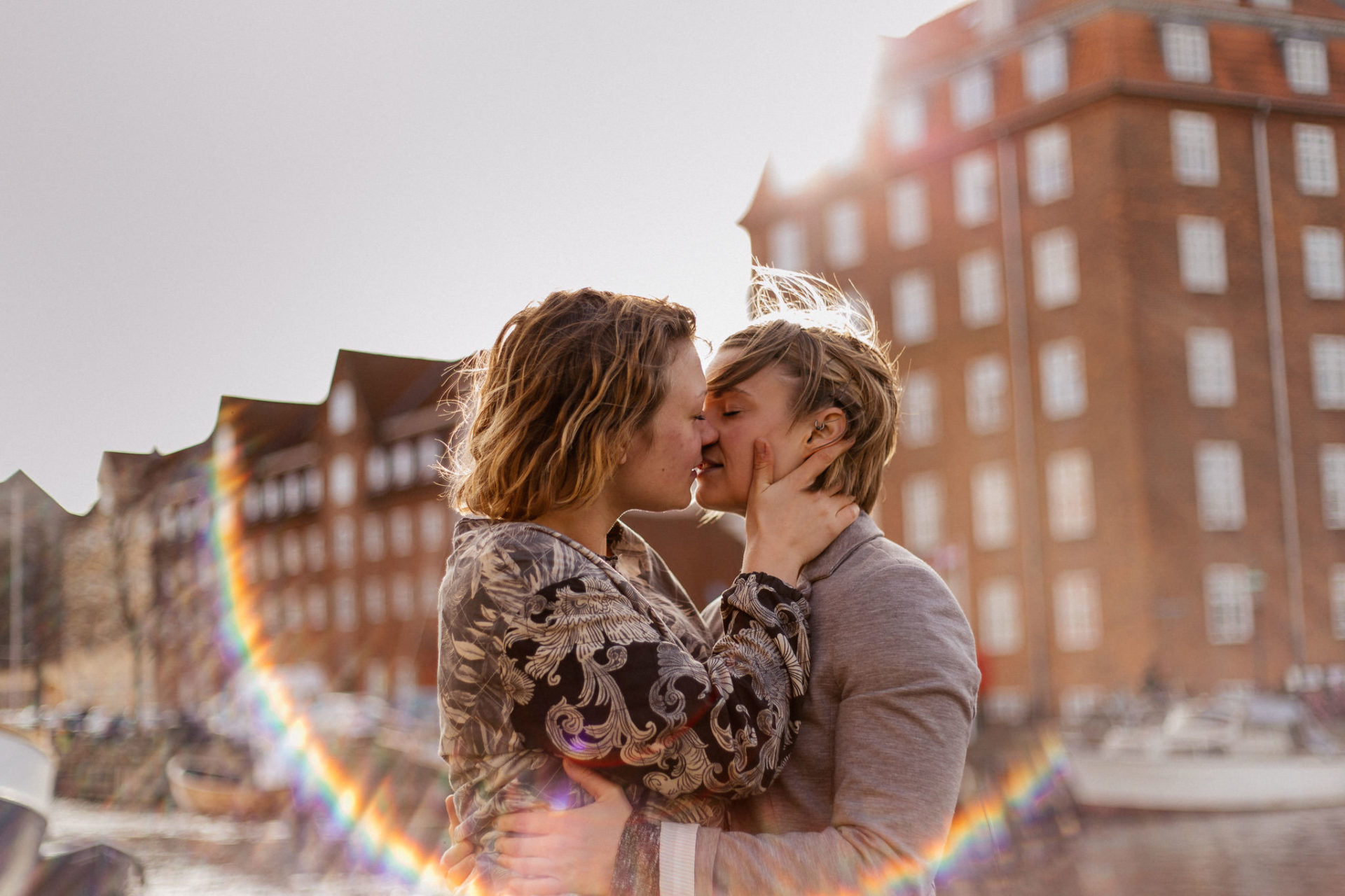same sex wedding copenhagen-lesbian engagement shoot-christianshaven cph love