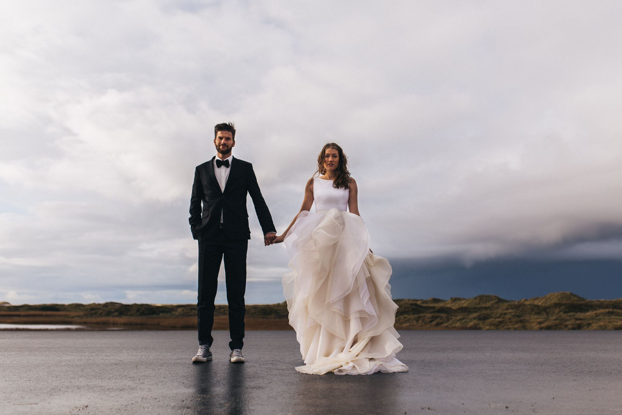 beach wedding in sankt peter ording a spectacular elopement