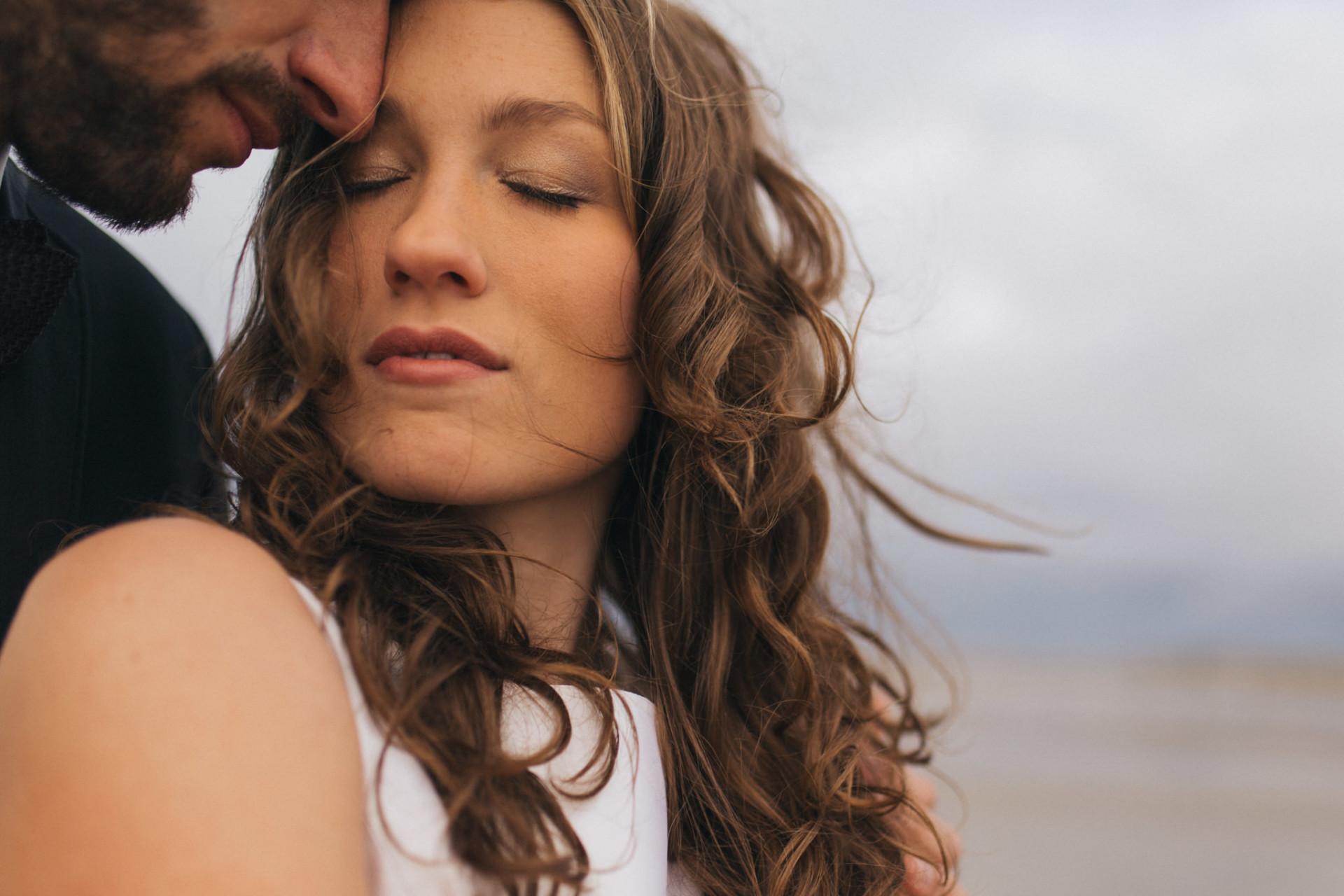 europe elopement photographer-sensual wedding portrait