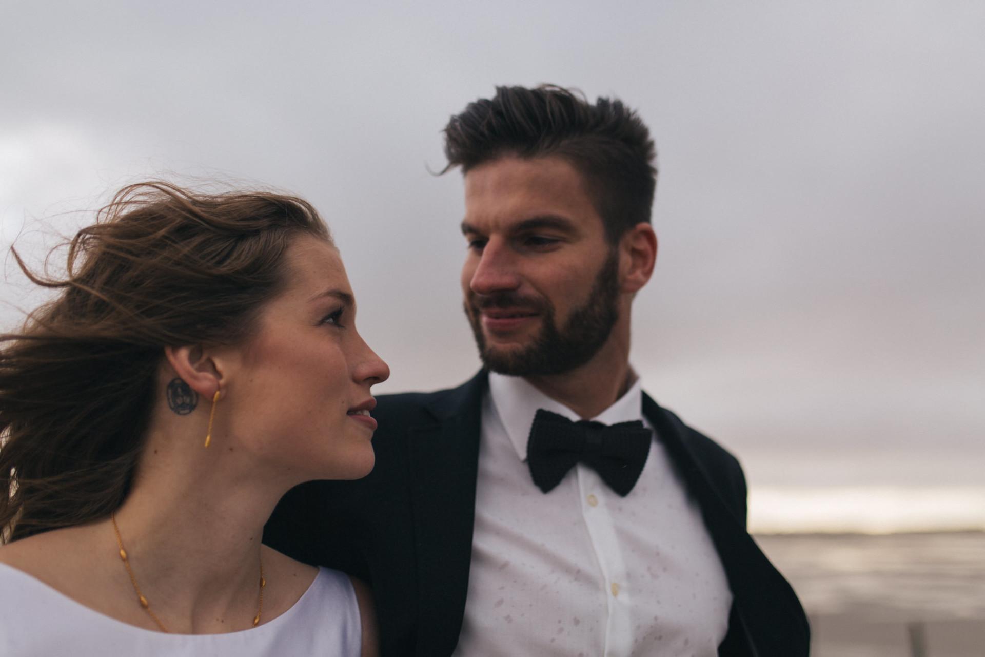 tattooed bride-wedding portrait moody emotional