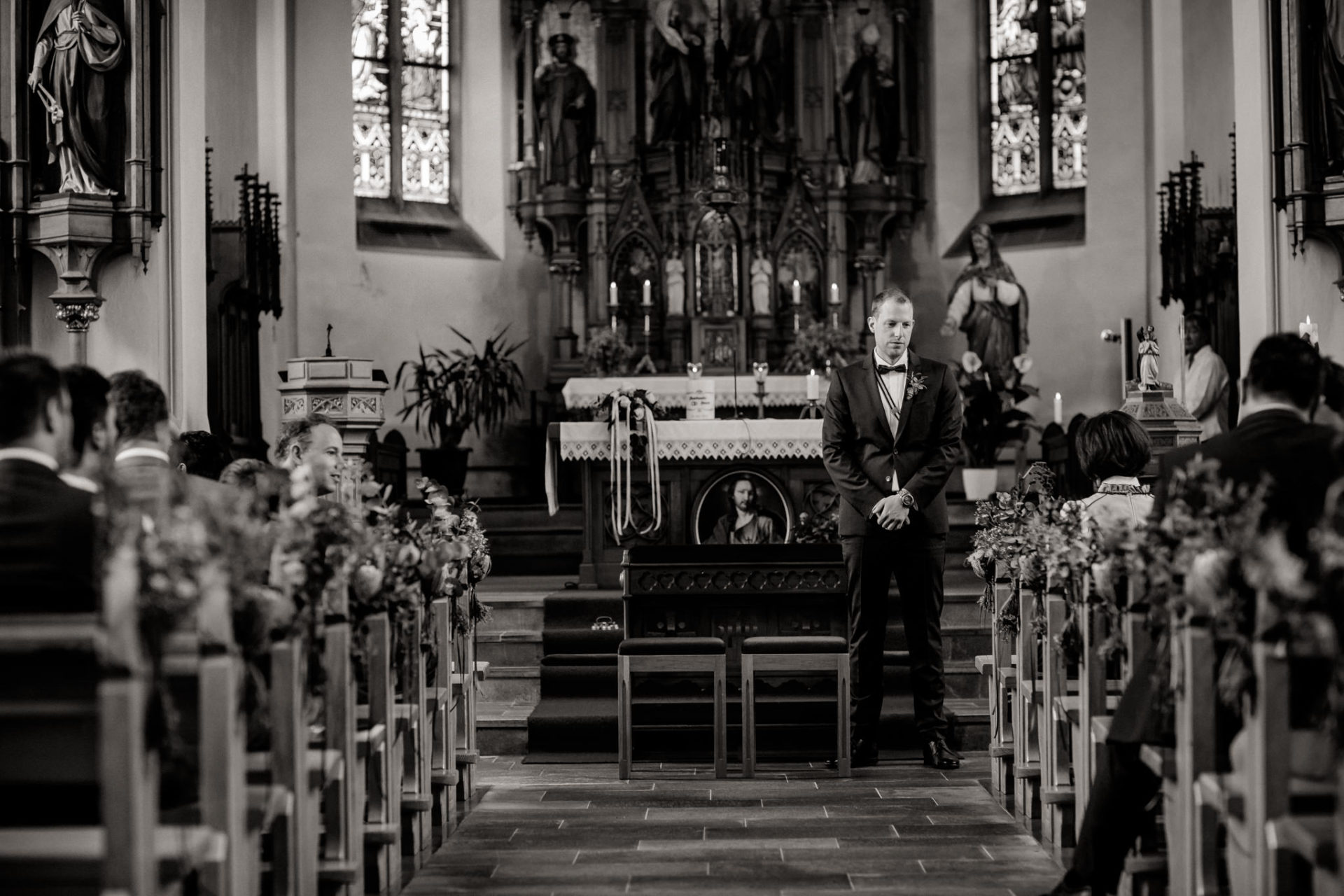 wedding photographer Lech Ahlberg-Church wedding in mountains