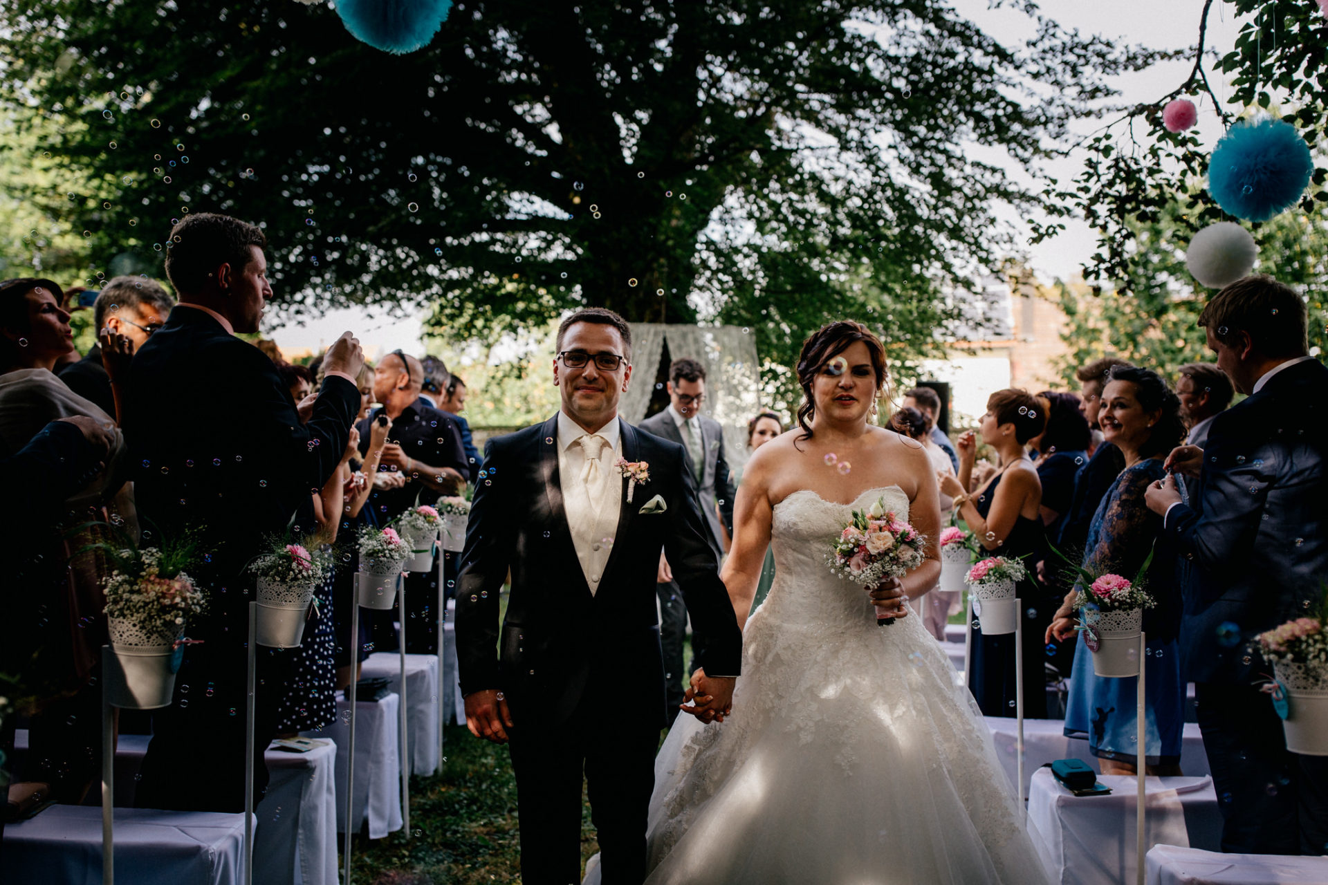 stuttgart wedding photographer-Castle Wedding Germany-Blackforest marriage-schloss heinsheim bride and groom walking down the aisle