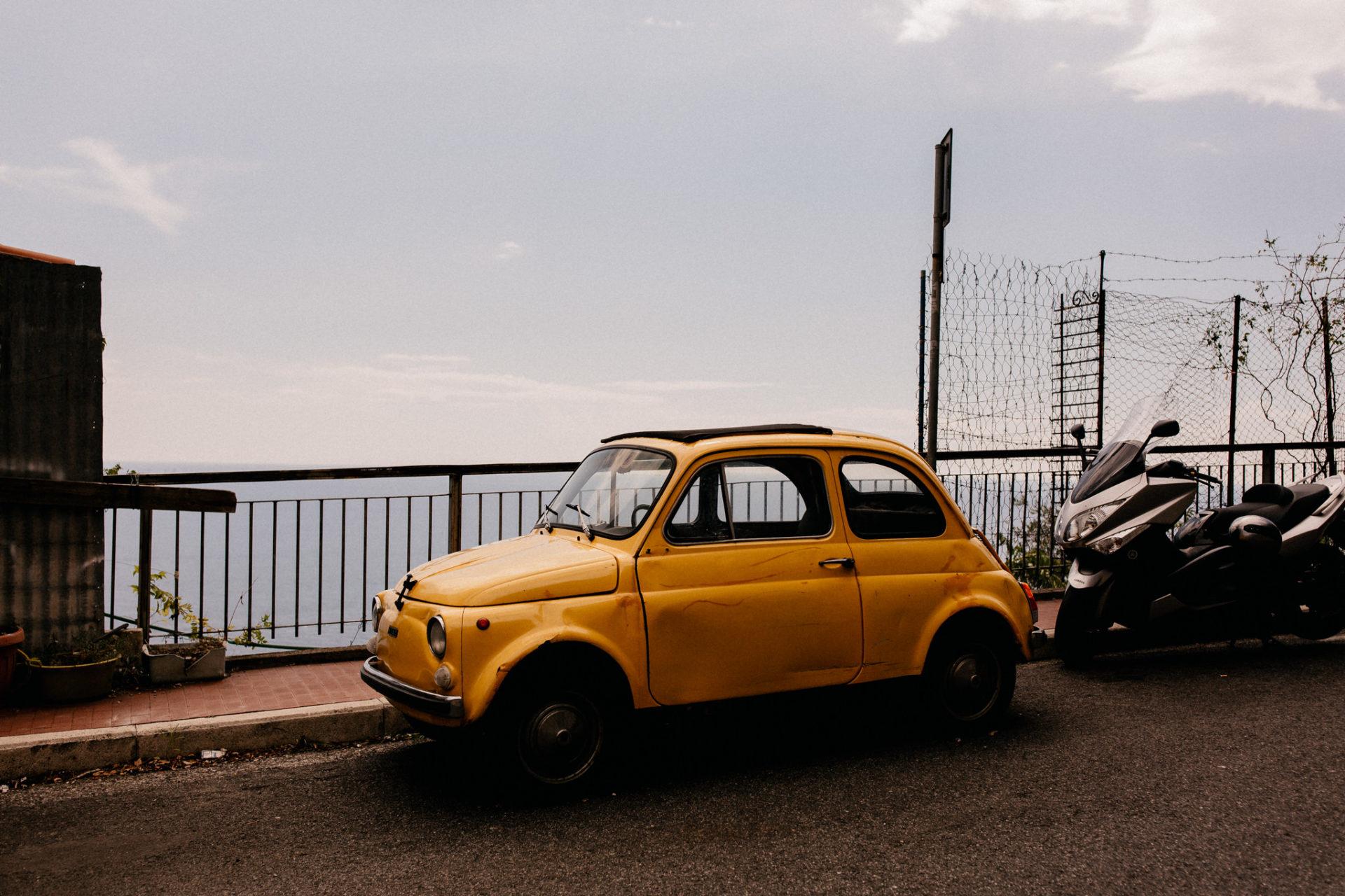 Hochzeitsfotograf italien-Amalfi Küste Heiraten-Paestum Trauung-italienische Hochzeit- fiat 500