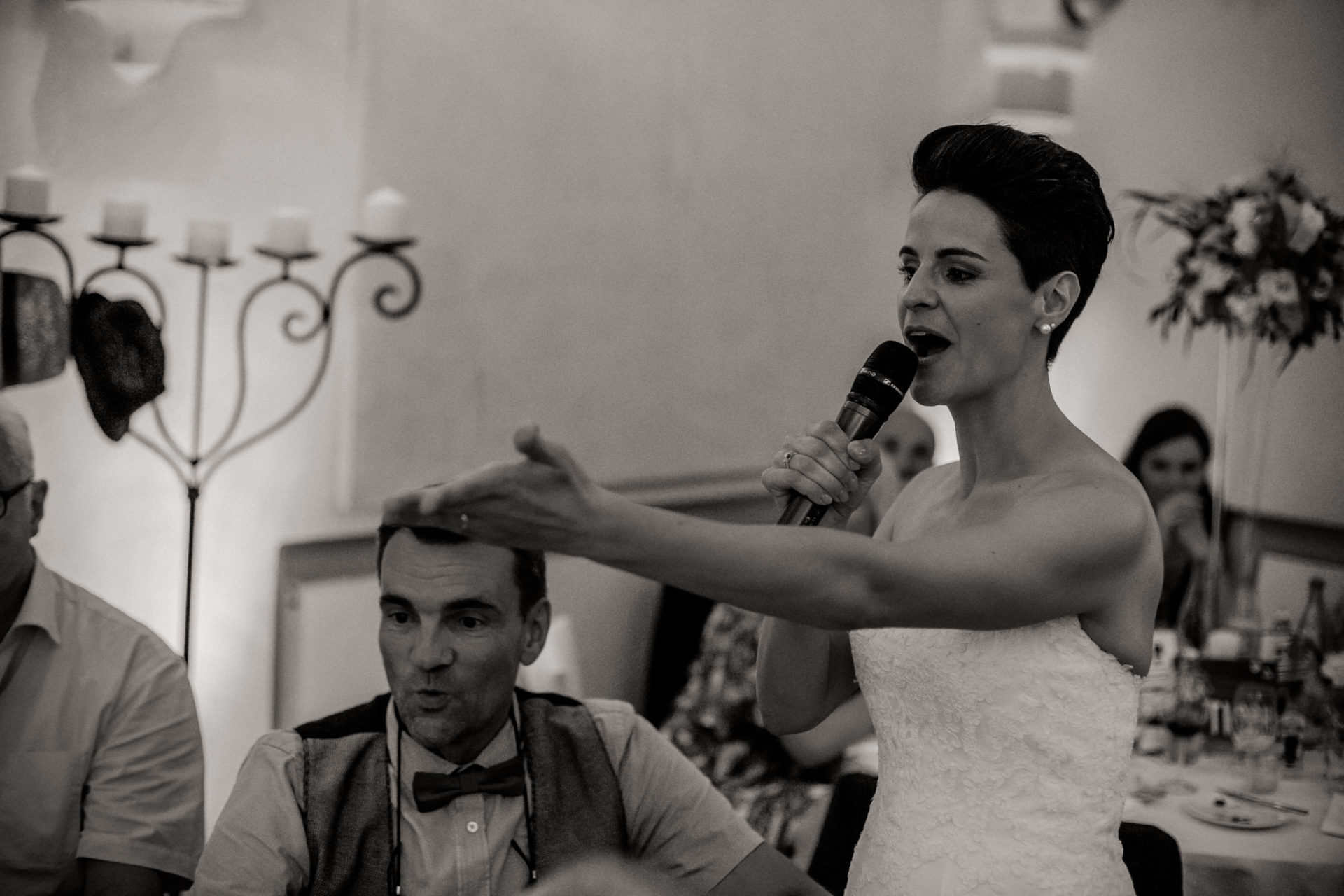 vineyard wedding germany-weingut fitz ritter wedding photographer pfalz dinner speech bride