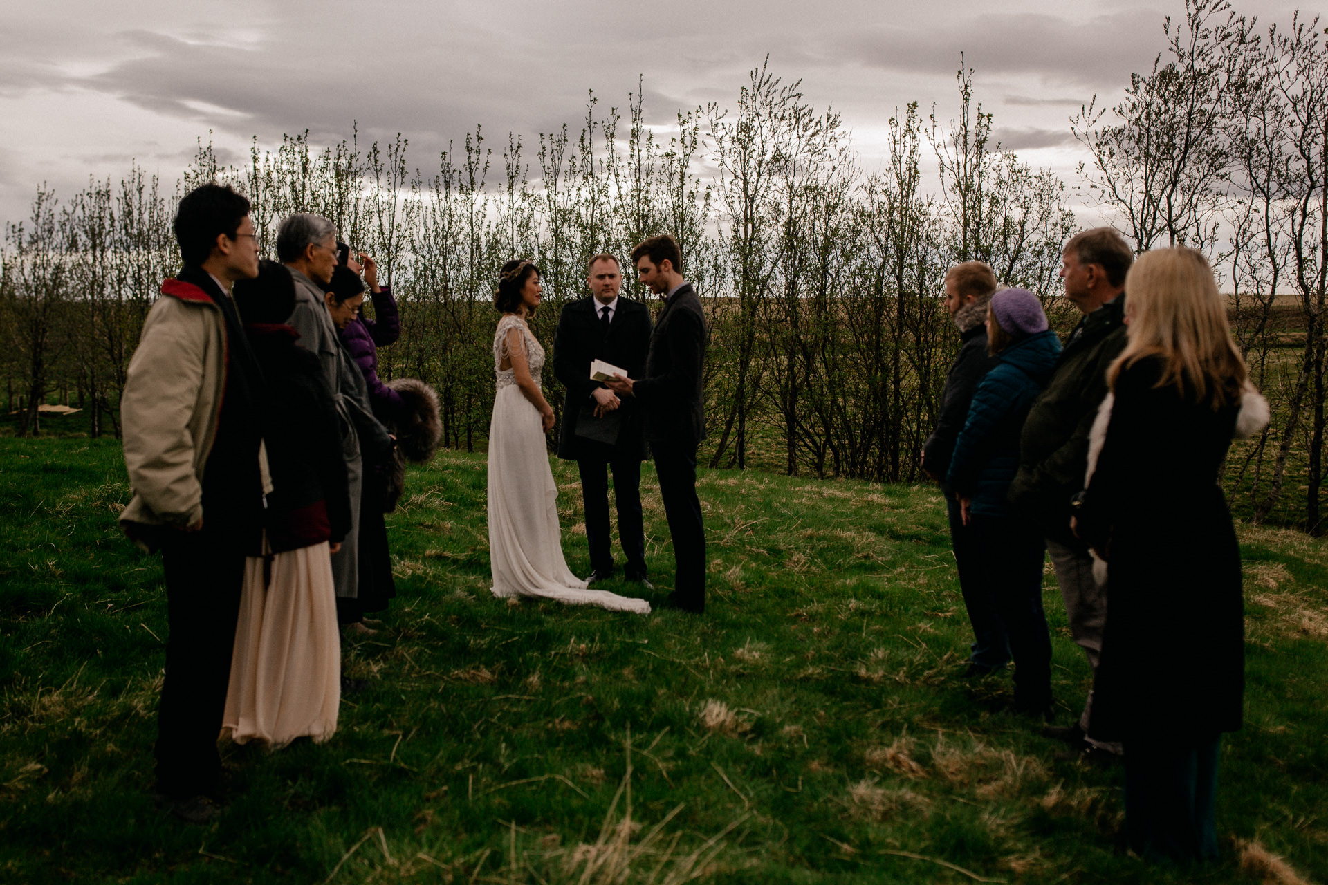 iceland wedding photographer-hella wedding ceremony