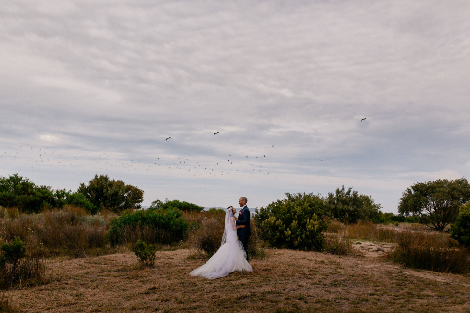 Melbourne Wedding Photographer-Queenscliff DIY garden wedding-bridal portraits queenscliff beach