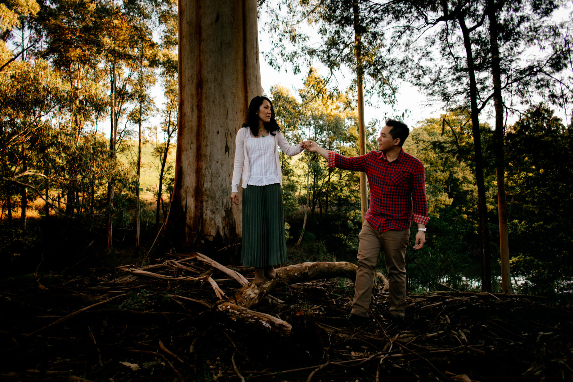 documentary wedding photographer melbourne-quirky engagement photos dandenong ranges wedding-winter wedding victorian-asian australian wedding photos-unposed candid portraits