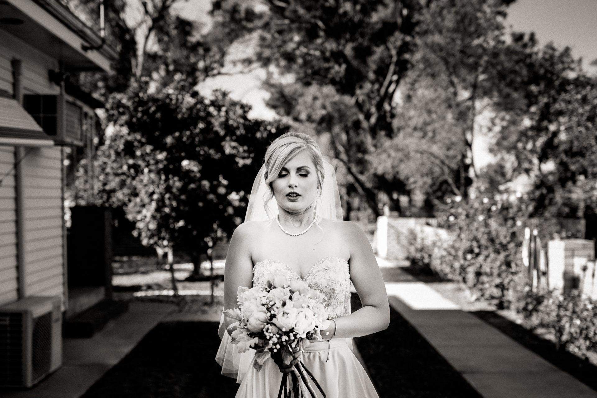 backyard-wedding-australia-melbourne-ceremony-bride-before-walking-down-isle-exhited-inhale