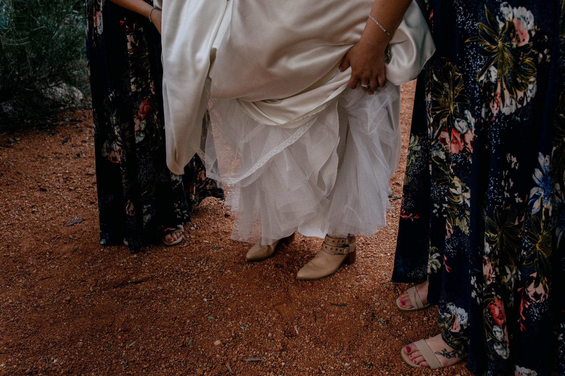 backyard-wedding-australia-melbourne-bride-bridesmaid-shoe-detail-boots