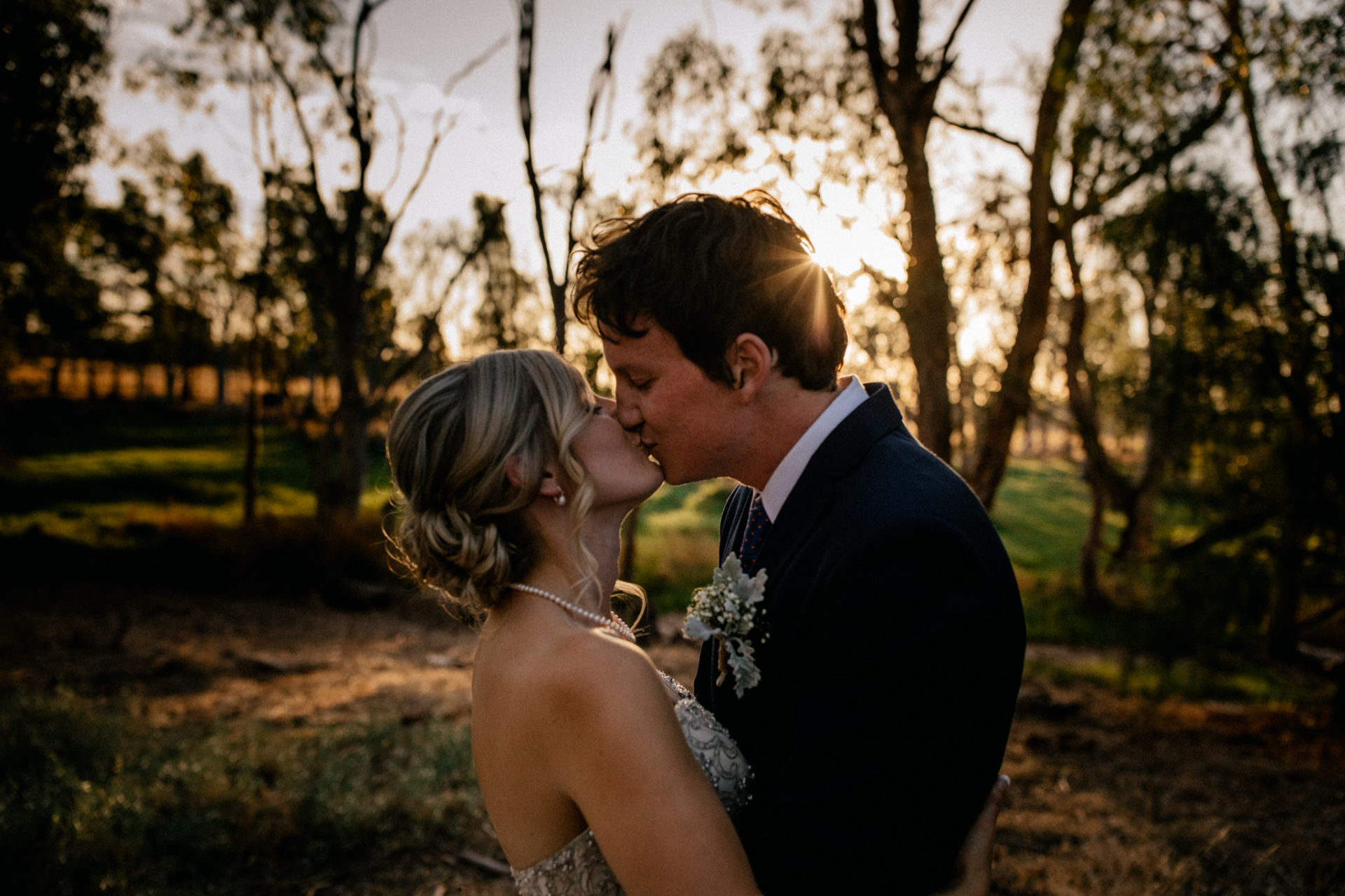 backyard-wedding-australia-melbourne-bride-groom-portrait-sunset