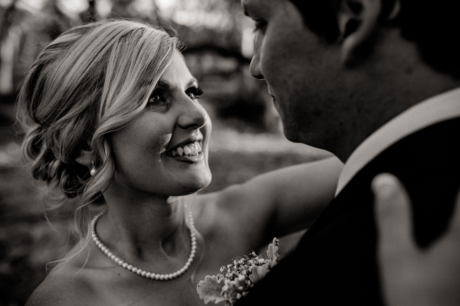 backyard-wedding-australia-melbourne-bride-groom-portrait-black-and-white