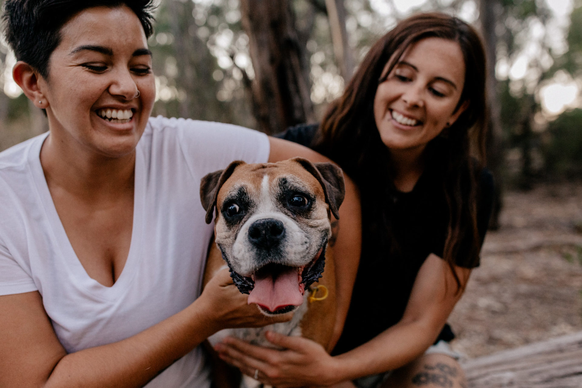In Love Session Thornbury-engagement photos-lesbian-couple-with-dog-photo-shoot-lgbtq-friendly-wedding-photographer-melbourne