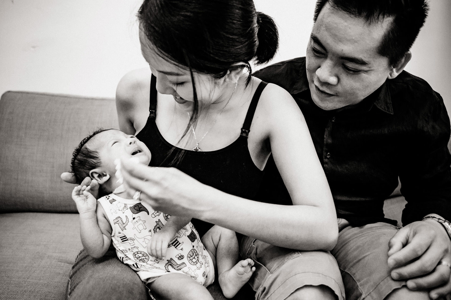 Family photographer Footscray-newborn photo-shoot-three generation family pictures-